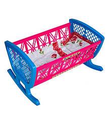 Кровать с постелью Бамсик «BAMSIC» 006/1 детская пластиковая