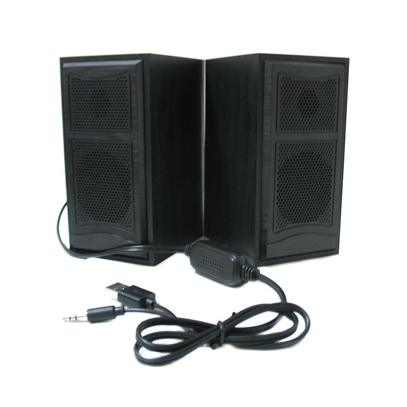 Компьютерные деревянные колонки акустика F&T 102 Black (2822)