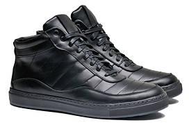 Зимние мужские ботинки с натуральной кожи высокого качества р. 40 41 42 43 44 45 46 47 48 49