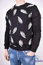 Батник мужской трикотажный (цв.черный) Adidas 9830 Размер:44