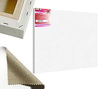 Холст на подрамнике Factura Unico3D 50х70 см Итальянский хлопок 335 грамм кв.м. среднее зерно белый, фото 1
