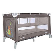 Детский манеж-кровать  со вторым дном CARRELLO Piccolo+ /Chocolate Brown