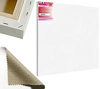 Холст на подрамнике Factura Unico3D 90х90 см Итальянский хлопок 335 грамм кв.м. среднее зерно белый