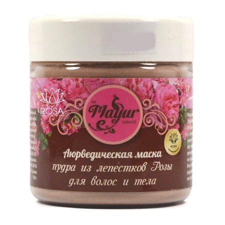 Аюрведическая маска для волос и тела из лепестков розы Mayur, 100 грамм