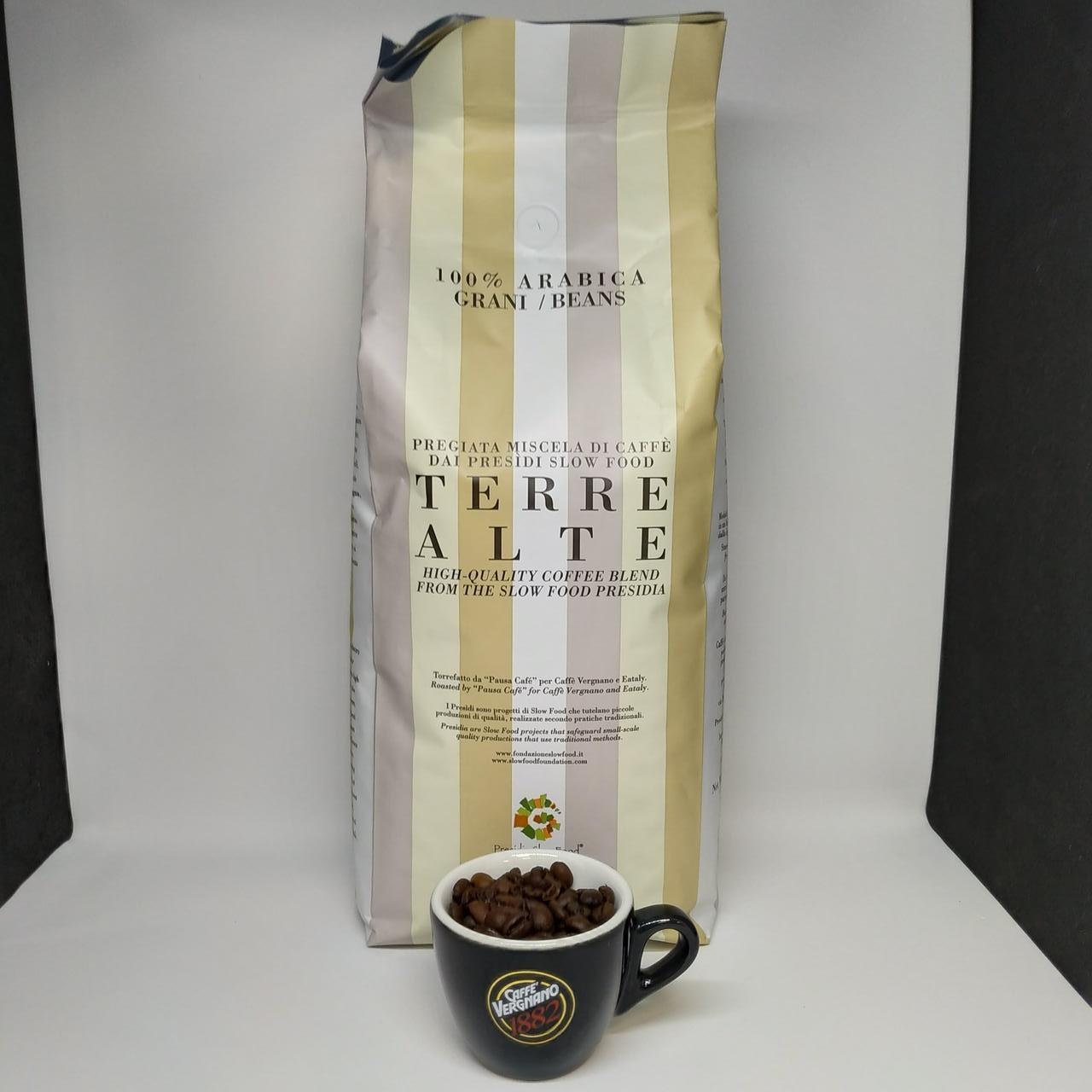 Caffe Vergnano 1882  Terre Alte 100% Arabic - Кофе в зернах