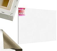 Холст на подрамнике Factura Unico3D 100х150 см Итальянский хлопок 335 грамм кв.м. среднее зерно белый