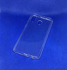Samsung Galaxy A40 2019 (A405F) прозрачный силиконовый ультратонкий чехол/ бампер/ накладка