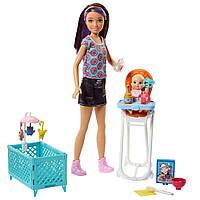 Кукла Барби Набор  Скиппер няня кормление Barbie Skipper Babysitters Inc. Doll and Feeding Playset