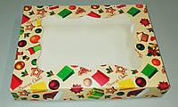 Упаковка для зефира и печенья 200*150*30 (принт елка)