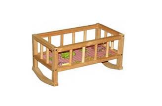 Деревянная кроватка для куклы BAMSIC 002 Бамсик