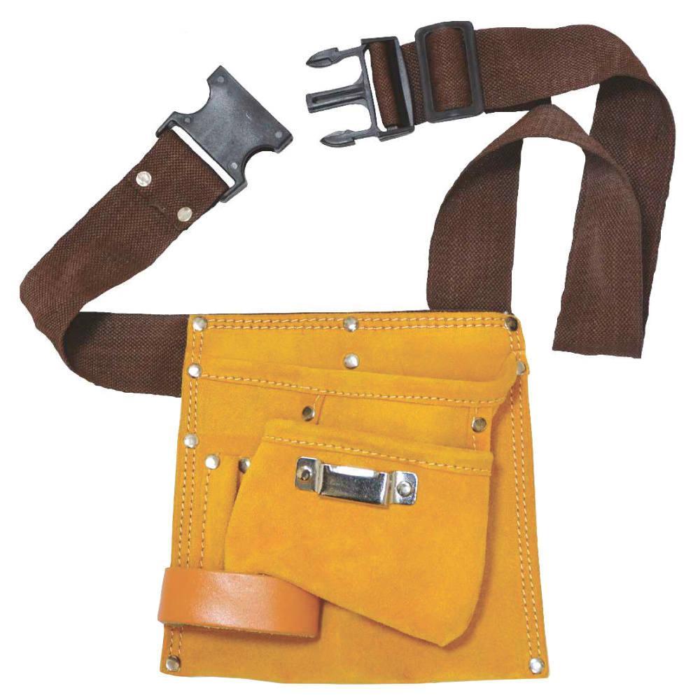 Пояс слесарный Grad 9450755 5 карманов (кожаный)