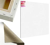 Холст на подрамнике Factura Unico3D 150х150 см Итальянский хлопок 335 грамм кв.м. среднее зерно белый