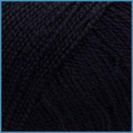 Пряжа для вязания Valencia Arabella, 040 (Black) цвет, 90% премиум акрил, 10% шелк