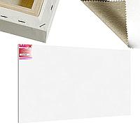Холст на подрамнике Factura Unico3D 150х300 см Итальянский хлопок 335 грамм кв.м. среднее зерно белый