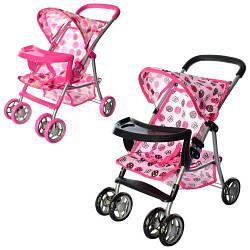 Детская игровая коляска для кукол 9304 BWT/ 025 прогулочная