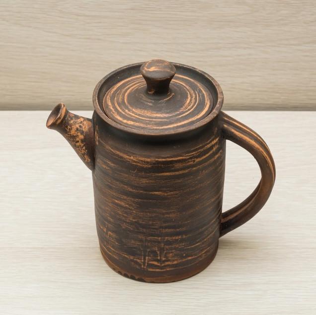 Чайник - 1000 мл, Коричневый (Славянская Керамика) Красная глина