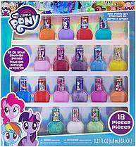 Детский лак для ногтей Май Литл Пони 18 штук My Little Pony Set for Girls 18 Colors
