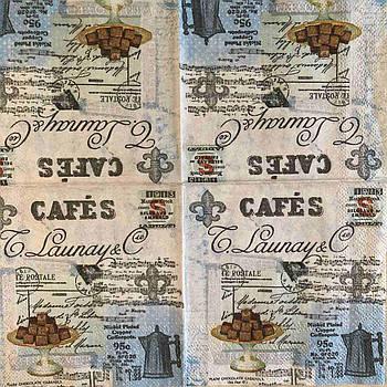 """Салфетка декупажная 25x25 см 15 """"Винтаж сладости канфеты кофе Лаундж"""" Серветка для декупажу"""
