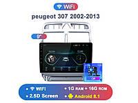 Junsun 4G Android магнитола для peugeot 307 2002-2013  wifi + canbus