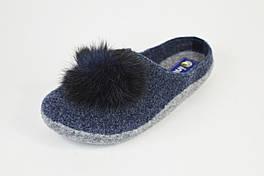 Тапочки-шлепанцы фетровые Inblu P26X синие
