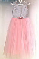 Детское торжественное платье с блестящим корсетом