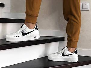 Підліткові (жіночі) кросівки Nike Air Force,білі з чорним, фото 2