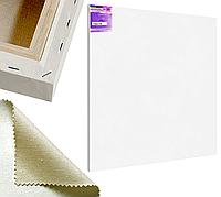 Холст на подрамнике Factura Gallery3D 150х150 см Украинский хлопок 320 гр.кв.м. мелкое зерно белый