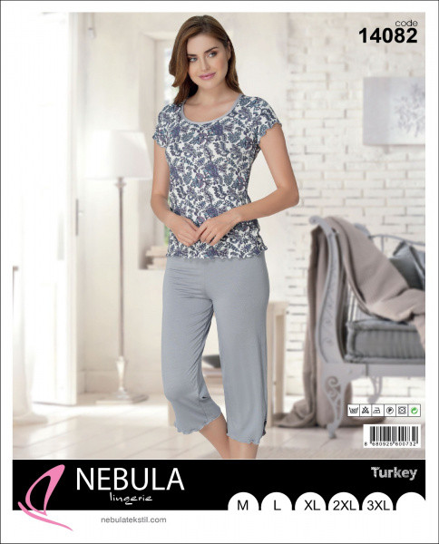 Комплект женский футболка бриджи NEBULA 14082 размер М