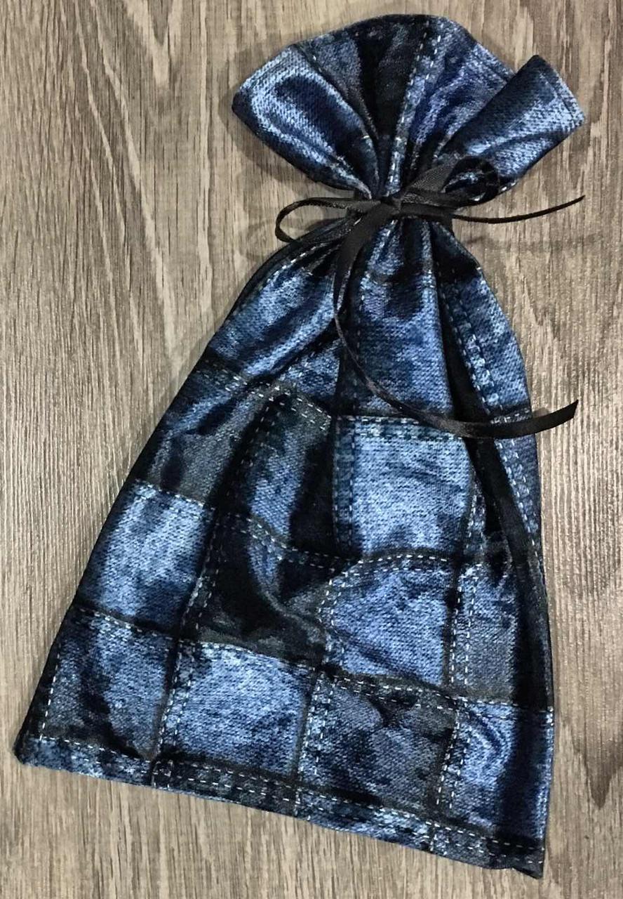 Упаковка для подарков - велюровый мешочек с атласной лентой