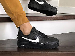 Подростковые (женские) кроссовки Nike Air Force,черные, фото 2