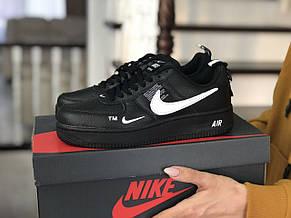 Подростковые (женские) кроссовки Nike Air Force,черные, фото 3