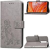 Чехол Clover для Nokia 5 Книжка кожа PU серый