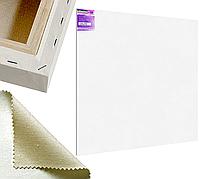 Холст на подрамнике Factura Gallery3D 200х200 см Украинский хлопок 320 гр.кв.м. мелкое зерно белый