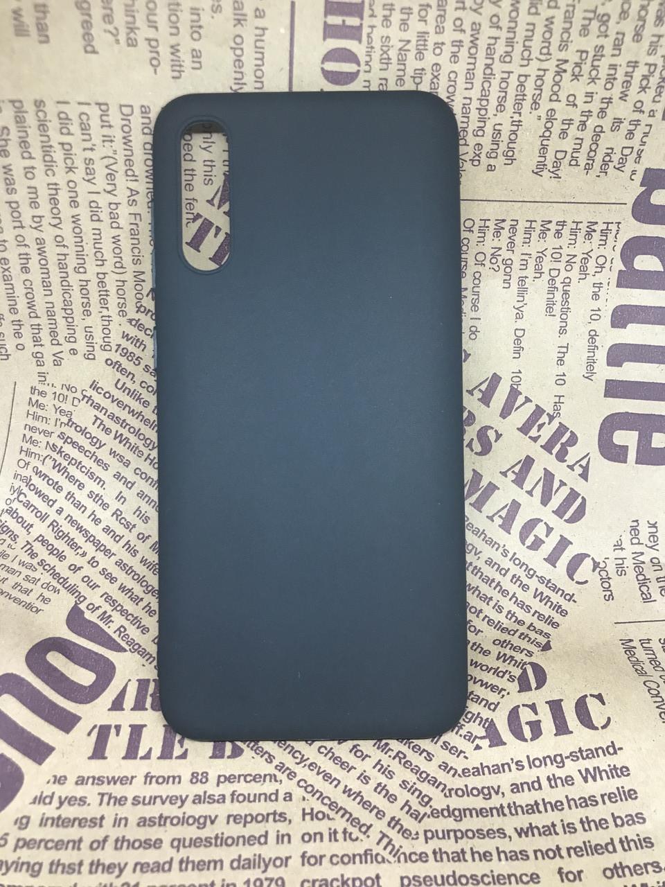 Samsung Galaxy A50 2019 (A505F) матовый цветной силиконовый ультратонкий чехол/ бампер/ накладка черный