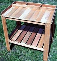 Декоративный деревянный стол для работы в саду - (Decorative Table - 02)