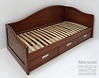 """Кровать в Украине деревянная диван-кровать односпальная с ящиками """"Лорд"""" dn-kr4.1"""