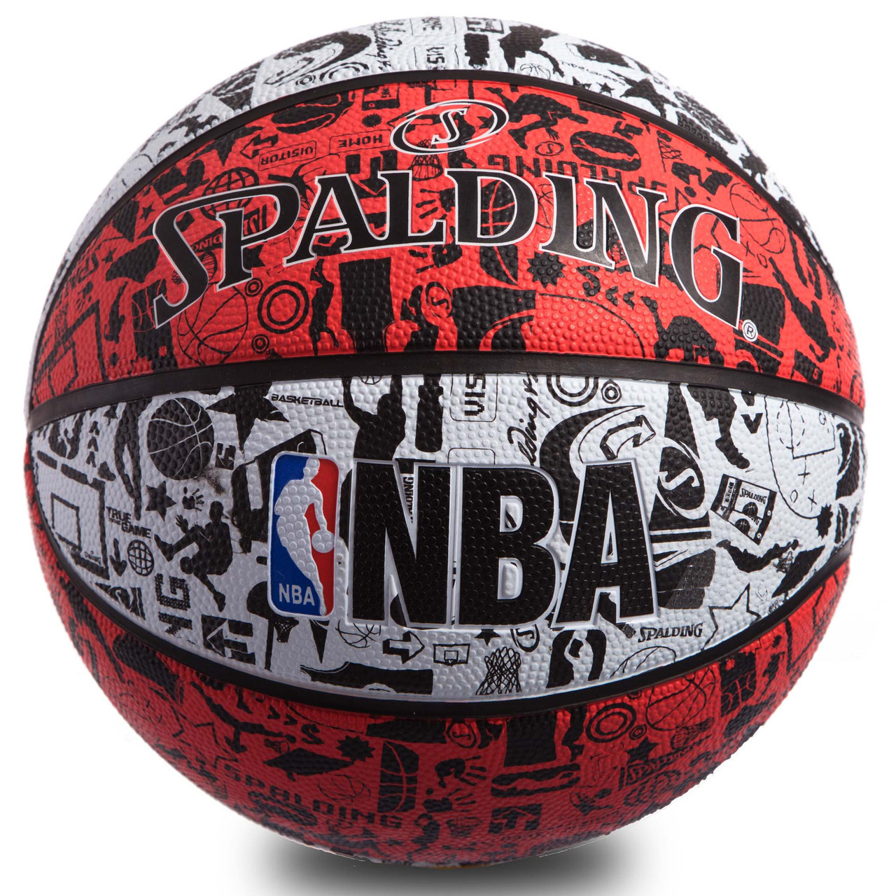 М'яч баскетбольний гумовий №7 SPALDIN 83574Z NBA GRAFFITI
