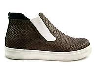 Брендовый ботинок-челси рептилия Tobi 34р.
