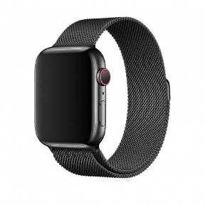 Ремешок для смарт-часов Apple Watch 4244mm Milanese Loop Band Space Black, фото 2