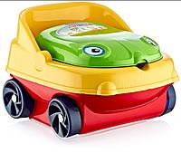 Горшок детский музыкальный Машинка IRAK PLASTIK CM-140 красный желтый зеленый