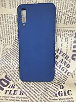 Samsung Galaxy A50 2019 (A505F) матовый цветной силиконовый ультратонкий чехол/ бампер/ накладка синий
