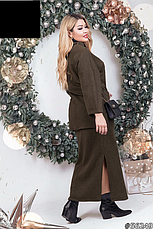 Жіночий костюм з довгою спідницею розміри: 48-50,52-54, фото 2