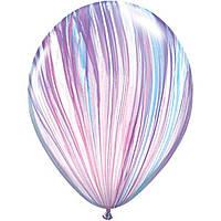 """Латексна кулька агат мода feshion superagate 11"""" Qualatex"""