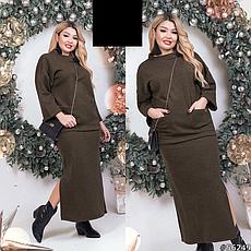Жіночий костюм з довгою спідницею розміри: 48-50,52-54, фото 3