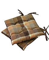"Подушка на стул ""Toffee - коричневая клеточка"", 40х40 см"