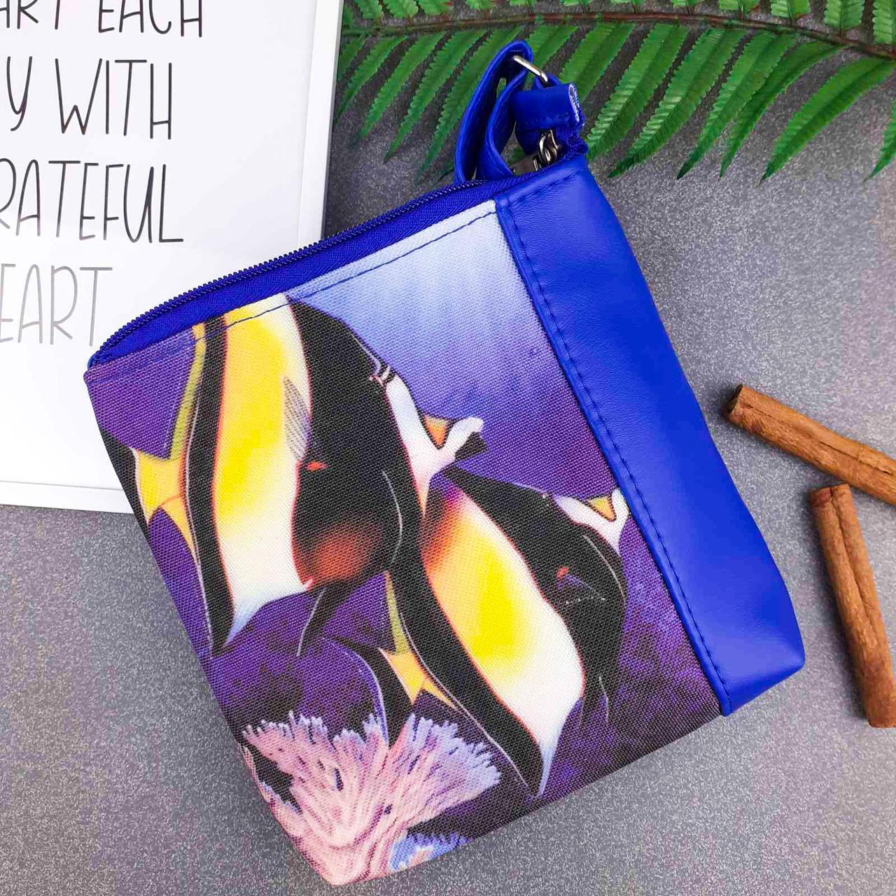 Сумка Moderika Mini Miss синяя с рисунком Две Рыбки (55405)