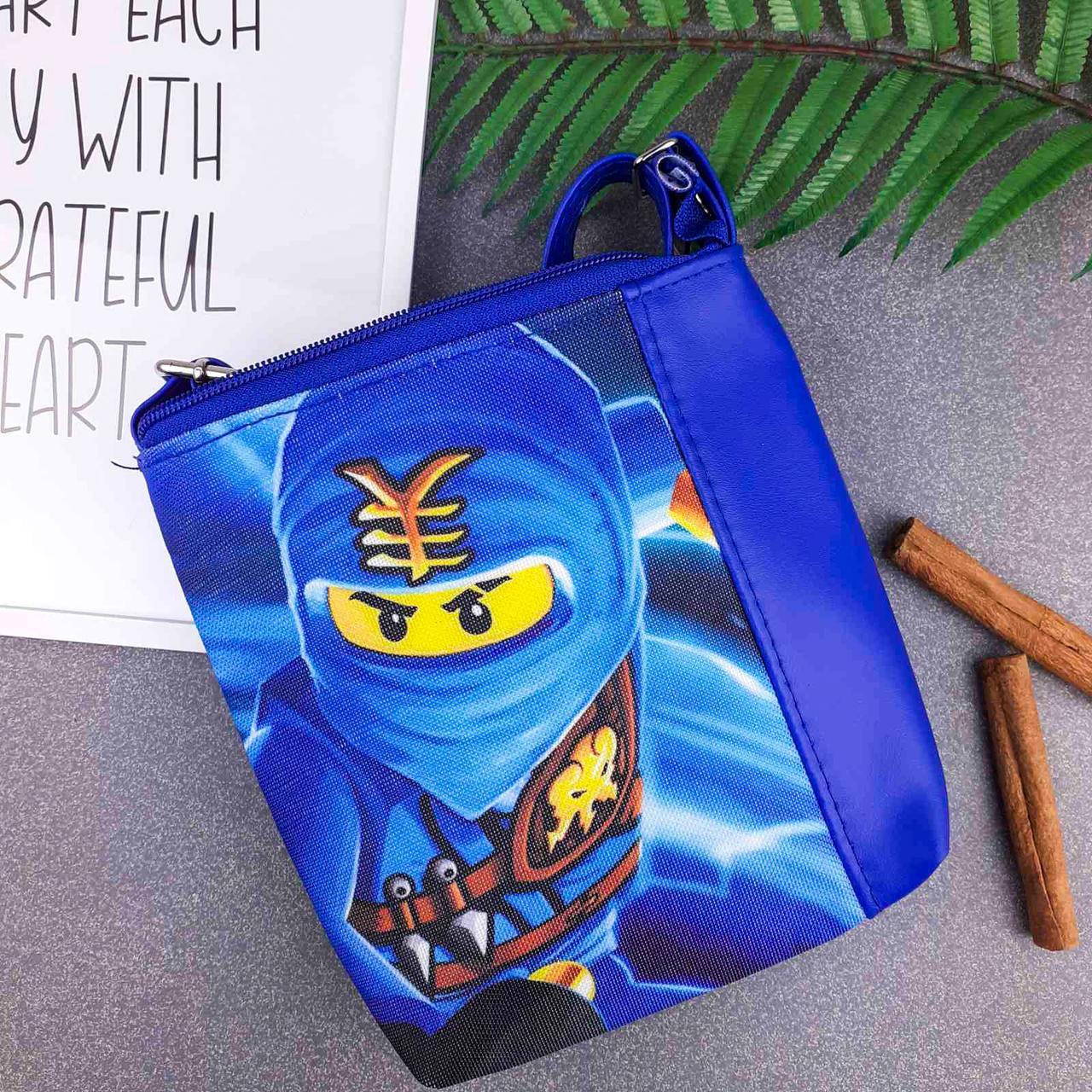 Сумка Moderika Mini Mister синяя с рисунком Ниндзяго (55509)