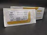 Кетгут хромований USP 4/0 (EP 2) з звор. ріж. голкою 20мм 1/2 кола