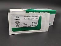 Поліестер USP 2/0 (EP 3) з звор. ріж. голкою 30мм 3/8 кола