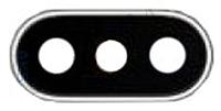 Стекло Камеры для Apple iPhone X в рамке (Серебристое)